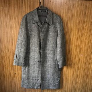 ロングコート   上着   ダブル袖 古着
