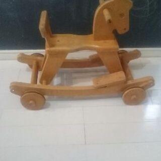 子供用 木馬 車輪つき