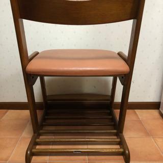 カリモク 学習椅子(ピンク) - 家具