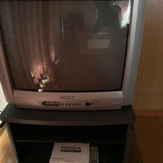 カラーテレビ 地上デジタルチューナー テレビ台付き