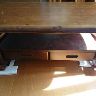 アンティークローテーブル   ダークブラウン - 家具