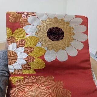 【ネット決済・配送可】名古屋帯 大判花柄