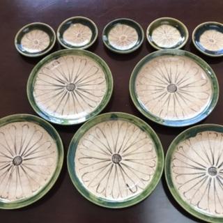 手描き皿☆大小各5枚ずつセットの画像