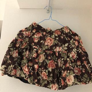 秋 花柄 スカート
