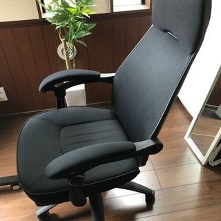 【美品・組立済み】高機能オフィスチェア リクライニング・フットレスト付