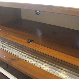 北大前! 札幌 引取 テレビ台 デザイン家具 収納付き 扉付き 木製 AVボード 小型 おしゃれ - 札幌市