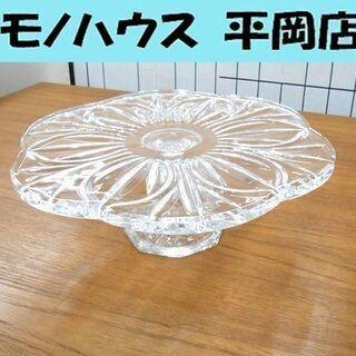 北一硝子 直径33×高さ11cm ケーキスタンド 台付 ケーキ皿...