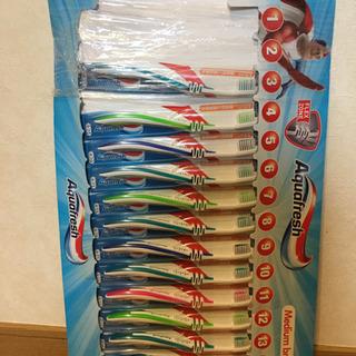 9101 展示品 アクアフレッシュ 歯ブラシ ヘッドサイズ レギ...