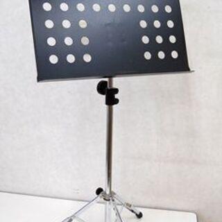 譜面台 穴あき 黒 三脚 伸縮可能 OHASHI 楽器周辺…