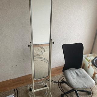 椅子と鏡 無料 ジャンク品