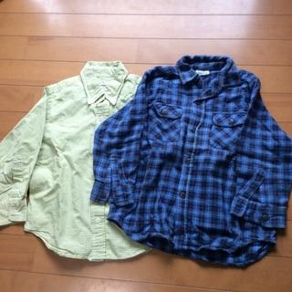 110  薄手シャツ、ネルシャツ、2セット