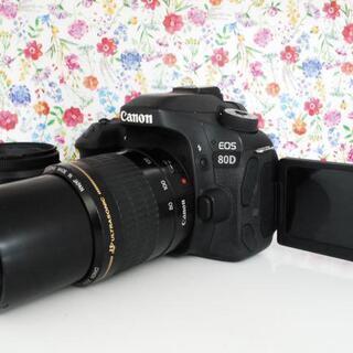 ★全国発送対応★超人気♪ Canon EOS 80D ダブルレン...