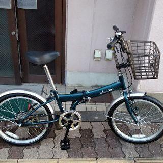 Amour 20吋折り畳み自転車 シングル/モスグリーン