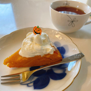 かぼちゃのケーキ作りましょう🎃
