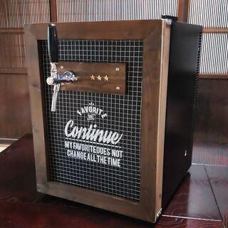 【ネット決済・配送可】小型冷蔵庫!自作ビールサーバーで自宅生ビール♪