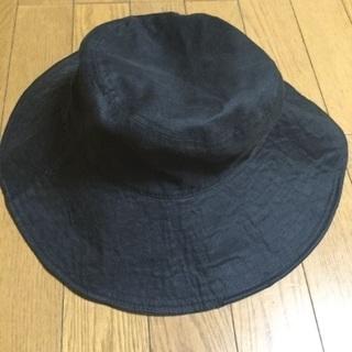 ユニクロ 麻帽子/黒