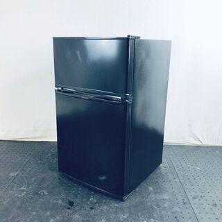 中古 冷蔵庫 2ドア シンプラス 2018年製 90L ブラック...
