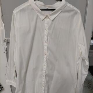 3L 4Lホワイトシャツ 綿100%の画像