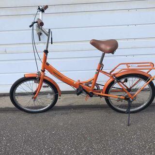 (北見市民限定)折畳自転車/オレンジ(北見市廃棄物対策課・リユー...