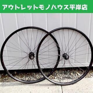 自転車 メーカー不明 ホイール 前後セット 650C 黒 ブラッ...