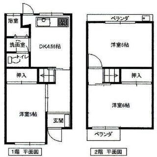 1515.貸テラスハウス せんげん台 3DK 47㎡ 南向き ペ...