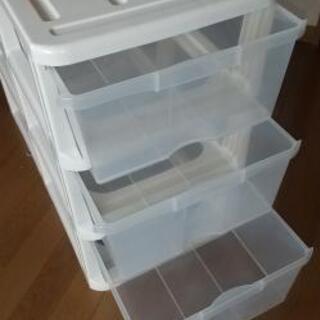 押入れ  3段ボックス   クリアボックス − 山形県