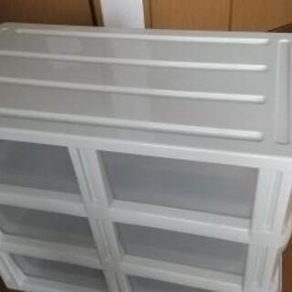 押入れ  3段ボックス   クリアボックス - 東置賜郡