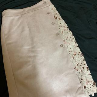 レースタイトスカート♡ピンクベージュ