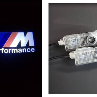 【ネット決済・配送可】⑩ BMW M3 ドアランプ ドアウェルカ...
