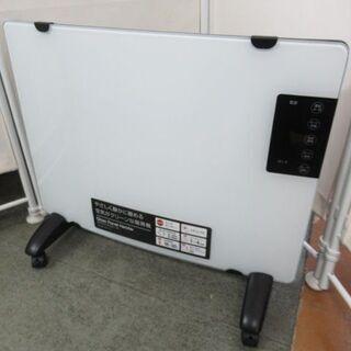 J1674/ガラスパネルヒーター/暖房器具/キャスター付き/静音...