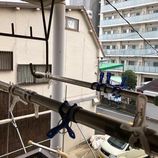 【譲渡者決まり】伸縮あり 物干し竿 2本 − 大阪府