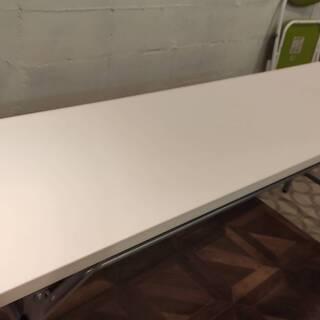 折りたたみテーブル(白)A