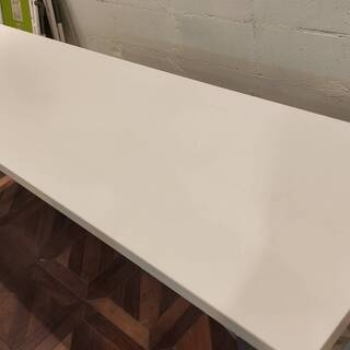 折りたたみテーブル(白)(W1800×D450×H700)B