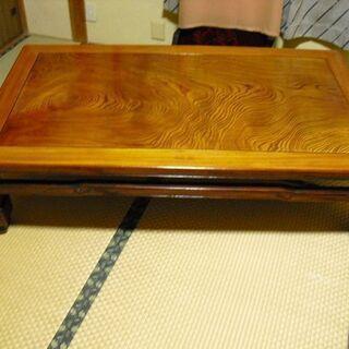 テーブル 和室 アンティーク 高級 天然木 座卓  座敷テーブル