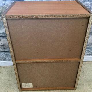 カラーボックス 2段 木製 ベージュ/ナチュラル  − 福井県