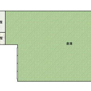 岡山県津山市、事務所付き貸倉庫、貸土地、賃料月額150000円