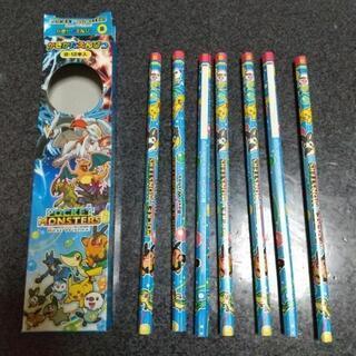 開封済 未使用 ポケモン  かきかた鉛筆  B 7本