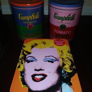 キャンベルスープなどアンディーウォーホルのパズル3点セット