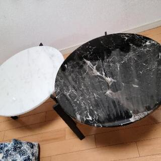 大理石 (マーブル) ローテーブル