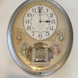 壁掛け からくり時計 スモールワールド