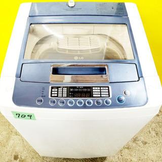 ③‼️大容量‼️709番LG✨全自動電気洗濯機✨WF-70WLA‼️