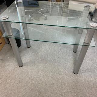 ネイル用 ガラステーブル 2段 2個セット