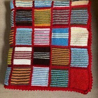 手編み ベッドカバー