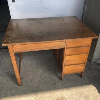 昭和レトロ 木製 デスク テーブル