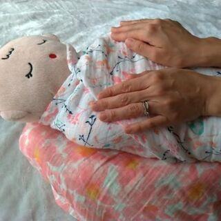 【無料モニター募集】赤ちゃんの背中スイッチ対策に!おくるみタッチケア