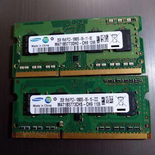 【ノートPC用メモリ】PC3-10600S 2GB2枚(計4GB)