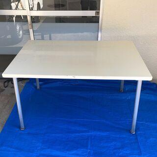 白いテーブル 作業台 丈夫なテーブル 台 机 ダイニング テーブル