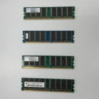 【無料】古いメモリ3枚、DDR512MB他