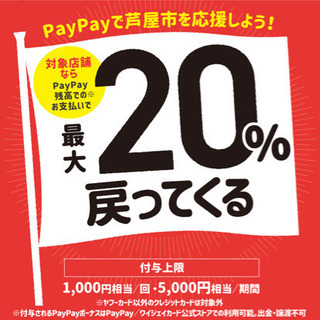 PayPay残高払いで20%ポイントバックキャンペーンを開催して...