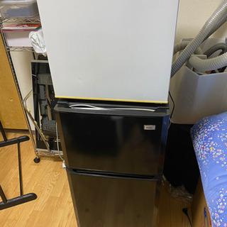 No.505 冷蔵庫 2ドアと1ドア ハンガーラック まとめてお...
